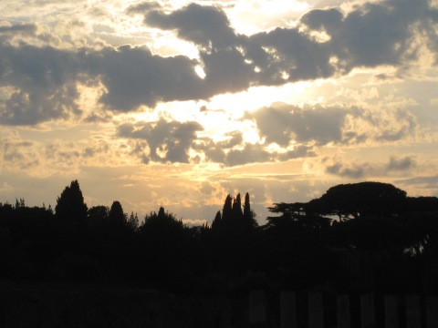 sky above the Roman Forum