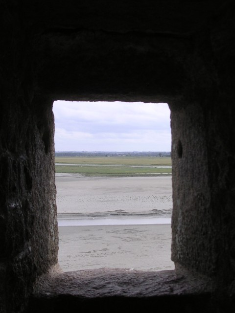 from the abbey at Mont-St-Michel