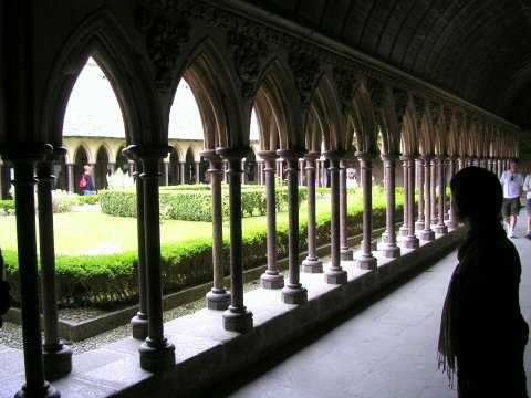 cloisters at Mont-St-Michel
