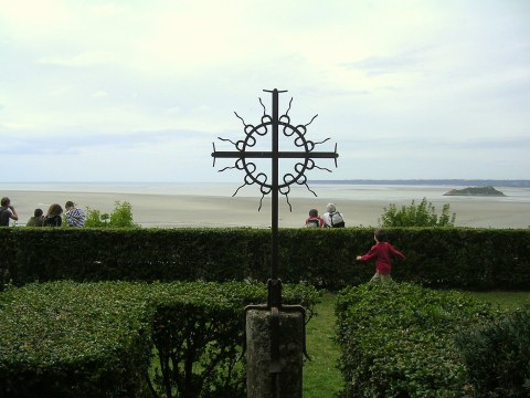 from the abbey on Mont-St-Michel