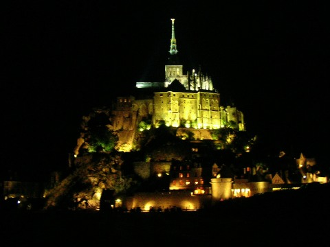 evening at Mont-St-Michel